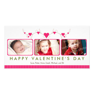 Kundengebundene süße Karte des Valentinstag-3-Foto Fotokarte