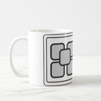 Kundengebundene Tassengrauquadrate Kaffeetasse
