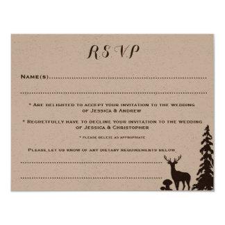 Kundengebundene Wedding UAWG Waldbrowns 10,8 X 14 Cm Einladungskarte