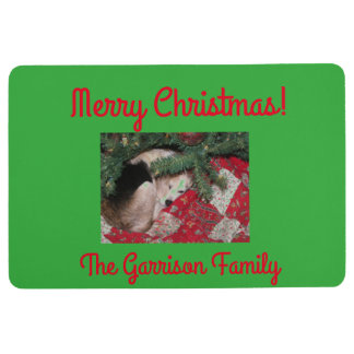 Kundengebundene Weihnachtsmatte mit schläfrigem Bodenmatte