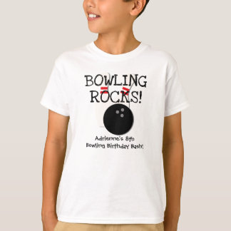Kundengebundener Bowlings-Geburtstags-T - Shirt