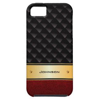 Kundengebundener goldener Luxus mit roter Beschaff Hülle Fürs iPhone 5