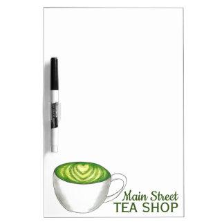 Kundengebundener Tee-Geschäfts-Teehaus-Zen-grüner Trockenlöschtafel