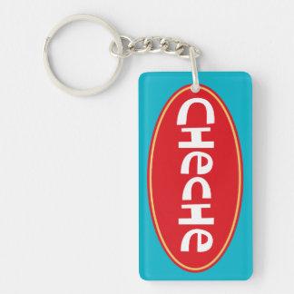 Kundengebundenes CHECHE Beidseitiger Rechteckiger Acryl Schlüsselanhänger