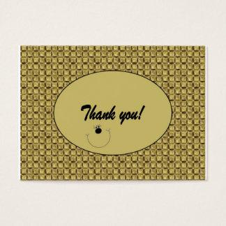 "Kundengerecht ""danke""/Umbau (100) zu kardieren Visitenkarte"