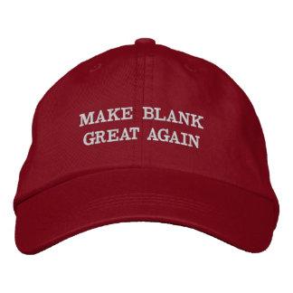 Kundengerecht stellen Sie (Ihr Text) große wieder Bestickte Kappe