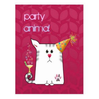 Kundengerecht: Wenig Alfie Party Postkarte