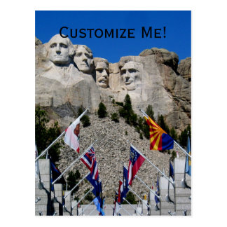 Kundengerechte Andenken Mt Rushmore Postkarte