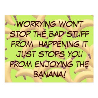 Kundengerechte Bananen mit Text Postkarten