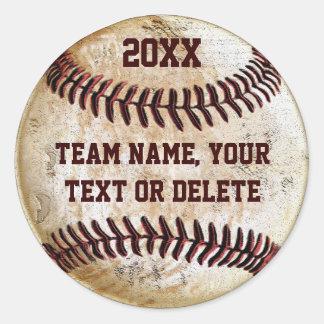 Kundengerechte Baseball-Aufkleber für Runder Aufkleber