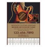 Kundengerechte berufliche Gitarrenlektions-Flyer