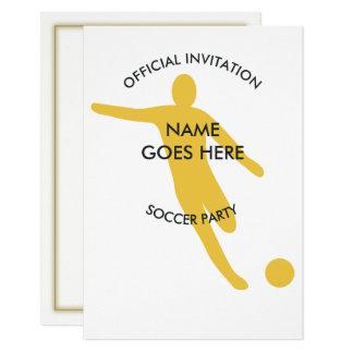 Kundengerechte Eis-Fußball-Party Einladung