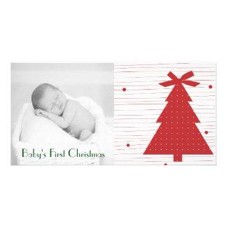 Kundengerechte erste WeihnachtsFoto-Karten Karte