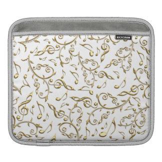 Kundengerechte FarbgoldMusiknoten iPad Hülse Sleeve Für iPads