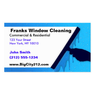 KUNDENGERECHTE Fenster-Reinigung BC Visitenkarten