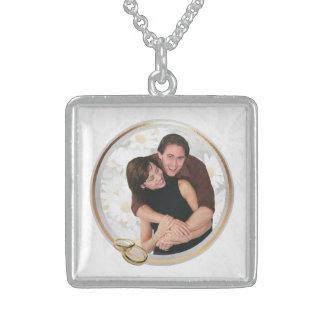 Kundengerechte Foto-Andenken-Hochzeits-Halskette Halskette Mit Quadratischem Anhänger