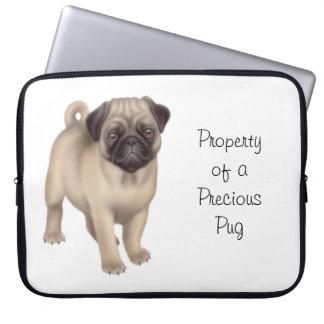 Kundengerechte freundliche Mops-Hundelaptop-Hülse Laptopschutzhülle
