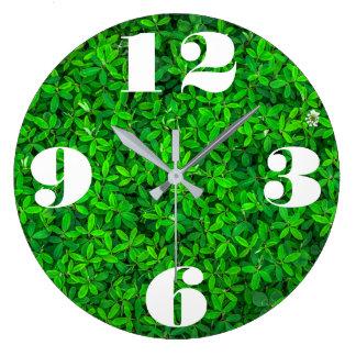 Kundengerechte frische grüne Pflanze Große Wanduhr