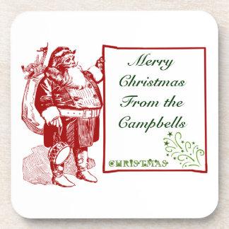 Kundengerechte frohe Weihnachten Getränk Untersetzer