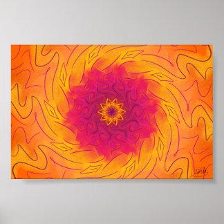 Kundengerechte Gartennelke (psychedelischer Poster