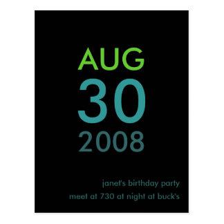 Kundengerechte - Geburtstag laden ein - einfache E Postkarten