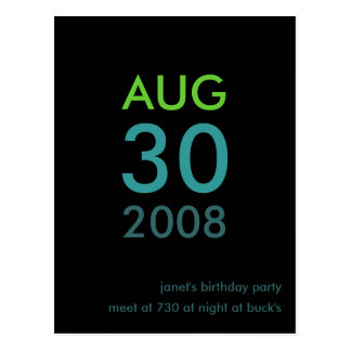 Kundengerechte - Geburtstag laden ein - einfache Postkarte