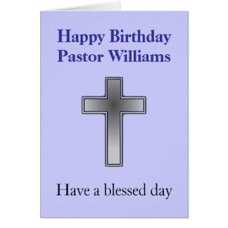 Kundengerechte Geburtstags-Karte für Pastor Karte