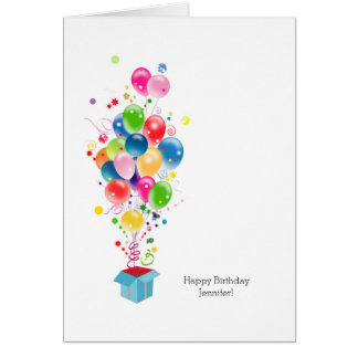 Kundengerechte Geburtstagskarten-bunte Ballone Grußkarte