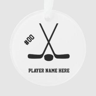 Kundengerechte gekreuzte Hockey-Stock-Verzierung Ornament