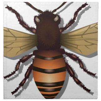 Kundengerechte gelbe Hummel-Biene Stoffserviette
