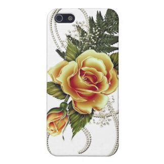 KUNDENGERECHTE gelbe Rosen iPhone 5 Case