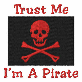 Kundengerechte gestickte Piraten-Flaggen-T-Shirts,