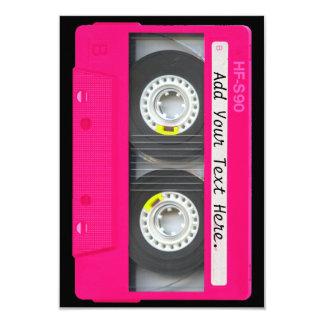 Kundengerechte Girly rosa Kassette Individuelle Ankündigskarten