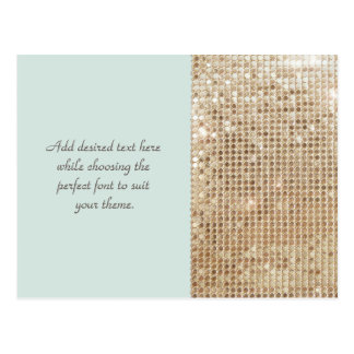 Kundengerechte GoldPaillette-Postkarte Postkarte