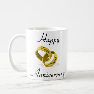 Kundengerechte gravierte Ringe - Kaffeetasse