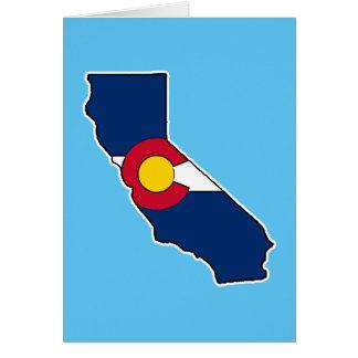 Kundengerechte Grußkarte Kaliforniens Colorado