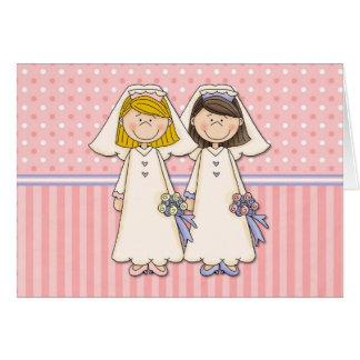 Kundengerechte homosexuelle Frauen-Hochzeits-Karte Grußkarte