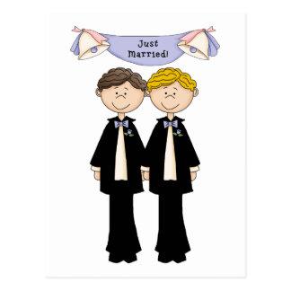 Kundengerechte homosexuelle Mannesgerade Postkarten