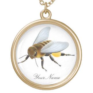 Kundengerechte Honig-Bienen-Halskette Vergoldete Kette