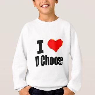 Kundengerechte i-Liebe (Herz) Sweatshirt