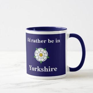 """Kundengerechte """"ich würde eher in Yorkshire"""" Tasse"""
