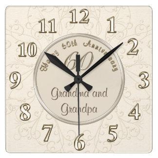 Kundengerechte Jahrestags-Uhr für Großeltern Uhr