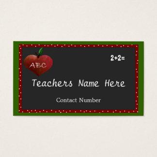 Kundengerechte Lehrer-Visitenkarte Visitenkarte