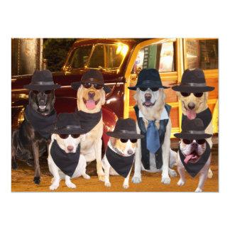 Kundengerechte lustige Hunde/Labradore Abendessen 16,5 X 22,2 Cm Einladungskarte
