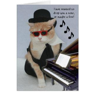 Kundengerechte lustige Katze Mitteilungskarte