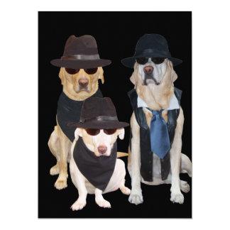 Kundengerechte lustige Labradore 40., 50., über 16,5 X 22,2 Cm Einladungskarte