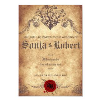 Kundengerechte mittelalterliche 8,9 x 12,7 cm einladungskarte