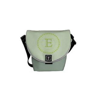 Kundengerechte Monogramm-Grün Mini-Bote Tasche Kuriertaschen