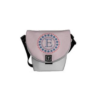 Kundengerechte Monogramm-Rosa Mini-Bote Tasche Kuriertasche