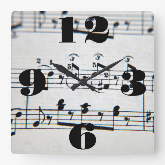 Kundengerechte musikalische Anmerkungen Quadratische Wanduhr